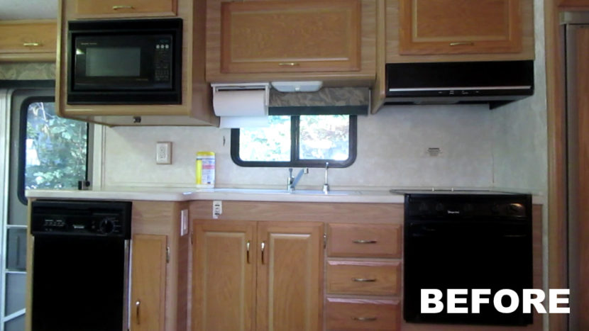 Rv Renovation Painting Rv Cabinets Amp Updating Cabinet