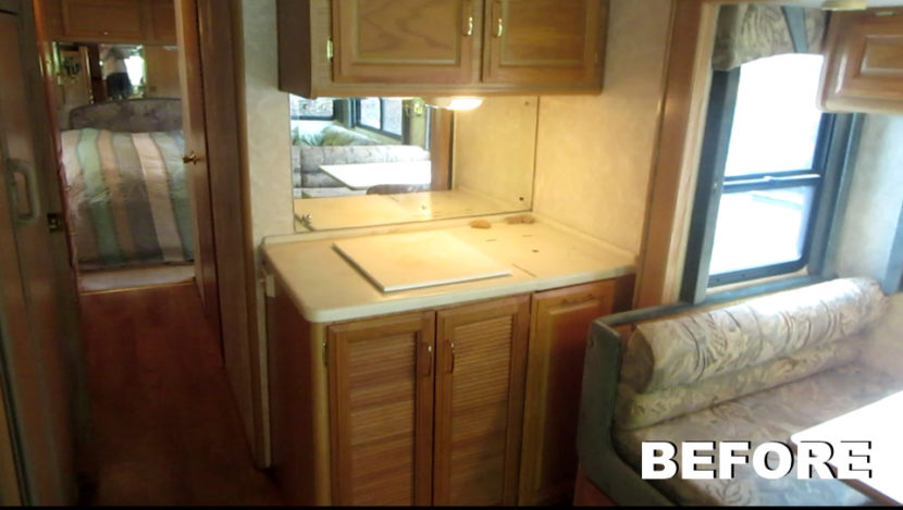 RV renovation before