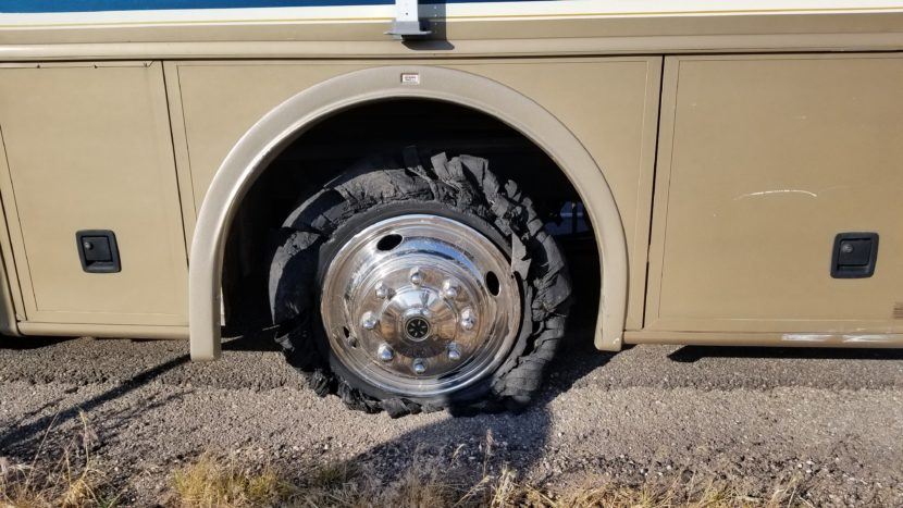 blown RV tire